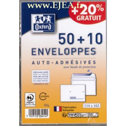 50 + 10 Enveloppes blanches C6