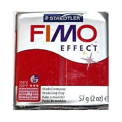 Fimo Effect glitter Rouge 202