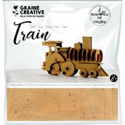 Maquette Train en carton à...