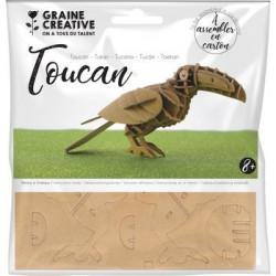 Maquette Toucan en carton à...