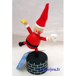 Père Noël Marionnette en bois