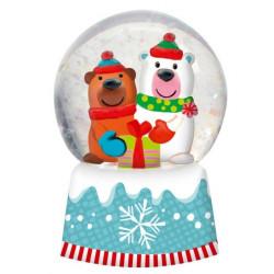Boule à neige Noël Ours