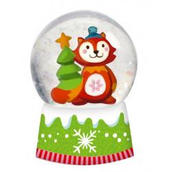 Boule à neige Noël Renard