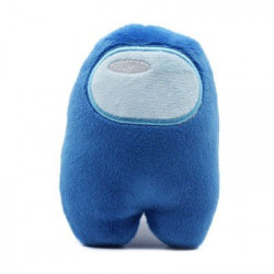Among Us mini peluche bleu