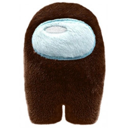 Among Us mini peluche marron