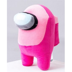 Among us Peluche rose