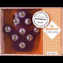 Coffret Massage anti-stress  - Contient 1 livre et 1 gant de massage à billes