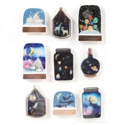 Stickers Effet 3D Galaxie