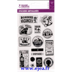 Stickers métallisés Vacances