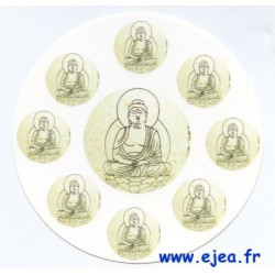 Carte ronde Bouddha