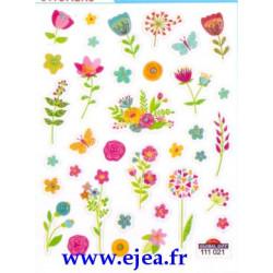 Stickers Mini Classy Fleurs