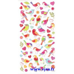 Stickers TWEENY Oiseaux roses
