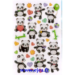 Stickers Mini Sweet Pandas