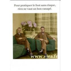 Carte Rétro Fun Le foot...