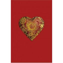 Carte double Icônes Cœur rouge