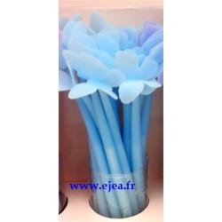 Stylo papillon bleu