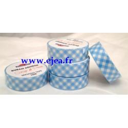 Masking tape Vichy bleu