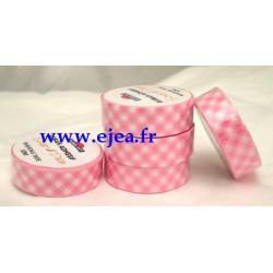 Masking tape Vichy rose