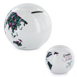 Tirelire Globe Blanc