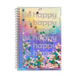 Carnet A5 Confetti Be happy