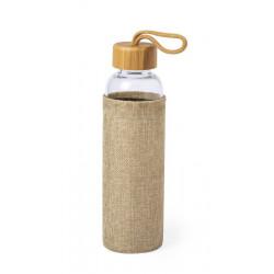 Bouteille verre et bambou