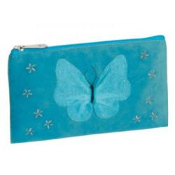 Fourre-tout plat Papillon bleu