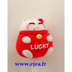 Stylo Lucky Cat rouge