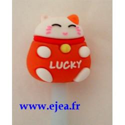 Stylo Lucky Cat orange