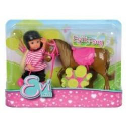 Evi Love et son poney bai