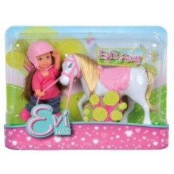 Evi Love et son poney blanc