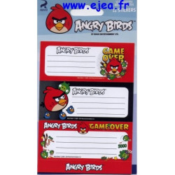 Angry Birds 12 étiquettes...