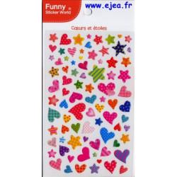 Funny Sticker World Cœurs...