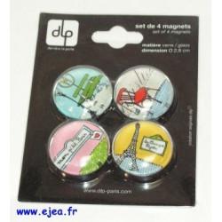 DLP Set de 4 magnets Mon...