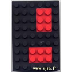 Carnet A6 brique Noir
