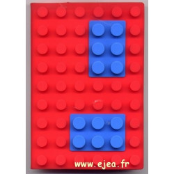 Carnet A6 brique Rouge