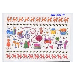 Carte postale Hanra Chats