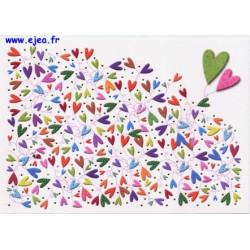 Carte postale Hanra Coeurs
