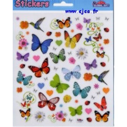 Stickers Global Gift Papillons